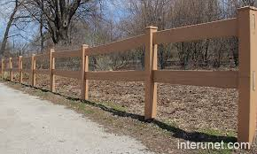 Two Horizontal Boards Composite Fence Interunet