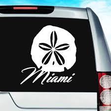Miami Florida Sand Dollar Vinyl Car Window Decal Sticker
