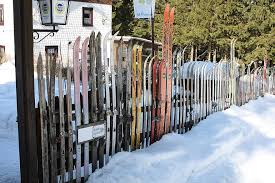 Snow Ski Fence Winter Cold Frost Wood Garden Fence Thuringia Germany Landscape White Pikist