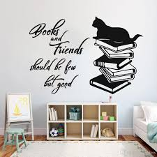 Cat Books Wall Sticker For Study Room Funny Wall Decals Kids Room Decoration Vinyl Wall Paper Decor Living Room Removable Ladybug Wall Decals Large Childrens Wall Stickers From Joystickers 11 75 Dhgate Com