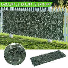 Artificial Ivy Privacy Fence Screen 1 6 3 3 16 4ft Artificial Hedges Fence And Faux Ivy Vine Leaf Decoration For Outdoor Decor Garden Walmart Com Walmart Com