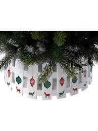 54cm Christmas Tree Skirt White Picket Fence Xmas Tree Base Cover Decoration Ebay