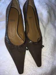 kitten heel brown suede shoes size 39