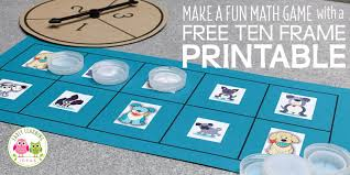 game with this free printable ten frame