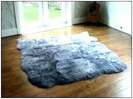 grey faux fur rug image 0 xmotor co