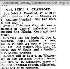 Sybil Anna Starks Crawford (1897-1944) - Find A Grave Memorial