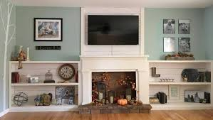 faux shiplap fireplace and custom