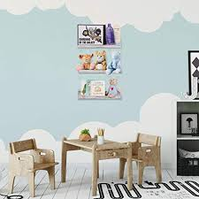 Hendson Wall Mounted Floating Shelves Set Of 3 White Rustic Bookshelf Kid S Room Shelf And Baby Book Shelve Farmhouse Goals