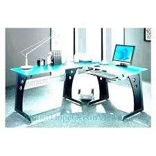 corner desk glass glass top office desk