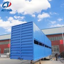 China 3 Axles Animals Livestock Pig Cow Cattle Sheep Transport Or Bulk Cargotransporting Fencing Stake Fence Semi Trailer China Fencing Trailer Fence Trailer