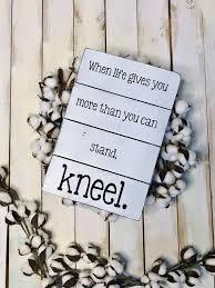 prayer sign kneel christian decor wood sign prayer
