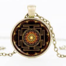 epacket sri yantra pendant necklace