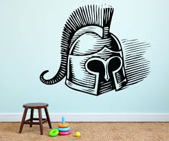 Decal Spartan Corinthian Helmet Ancient Greek 20x30 Contemporary Wall Decals By Design With Vinyl