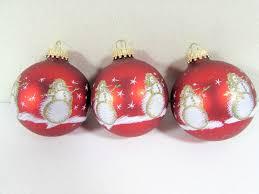 krebs red glass ornaments