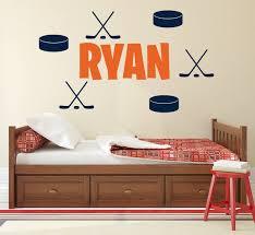 Custom Name Wall Art Hockey Wall Decal Kids Boys Bedroom Etsy