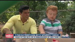 5-year-old boy is 'apparently' famous - YouTube