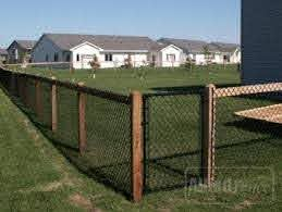 Black Fence Wood Backyard Fences Black Chain Link Fence Fence Design