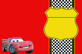 Invitacion De Cars Para Editar Gratis Imagui