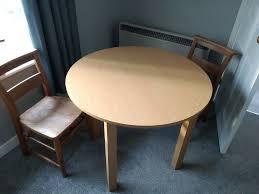 argos melamine round dining table oak