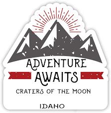 Amazon Com Craters Of The Moon Idaho Souvenir 2 Inch Vinyl Decal Sticker Adventure Awaits Design Computers Accessories