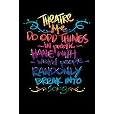 theatre nerd notebook funny