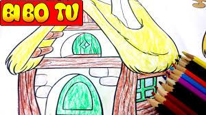 Coloring Pages For Kids   Trò Chơi Hướng Dẫn Bé Tập Tô Màu Học Vẽ Tranh  Ngôi Nhà Cổ Tích - YouTube