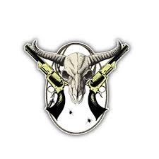 Wild West Bison Skull Decal Reflective Car Sticker Southwestskulls
