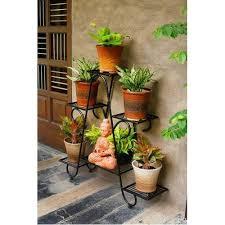 6 tier metal plant pot display rack