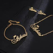 stainless steel name earrings necklaces
