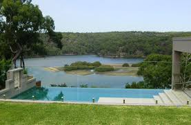 Stunning View Through Fence Of Infinity Pool 1 Homestead Fencing