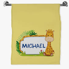 personalized gifts baby giraffe sheet