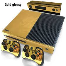 Glossy Gold Xbox One Skin For Xbox One Console And Controllers Ebay
