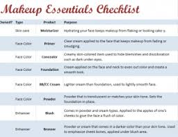 makeup essentials list for beginners