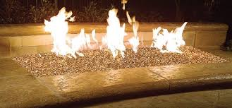 fire pit glass crystals look like