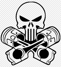 Car Decal Sticker Punisher Human Skull Symbolism Car White Monochrome Car Png Pngwing