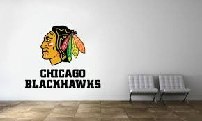 Chicago Blackhawks Logo Wall Mural Decal Sticker Reusable Removable Life Size For Sale Online Ebay