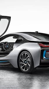 bmw i8 back silver android wallpaper