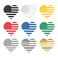American Flag Heart Love Car Truck Suv Vinyl Decal Sticker Laptops Wall Windows Chicocanvas
