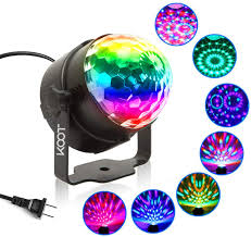 Amazon Com Party Lights Koot Disco Ball Sound Activated Disco Dance Lights With Remote Magic Led Dj Lights 7 Colors Mode Rgb Strobe Lights For Home Room Kids Xmas Party Bedroom Bar