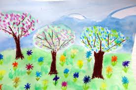 Красиви пролетни рисунки