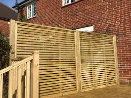 Venetian Slatted Fence Panel Guaranteed For 25 Years This Decorative Panel Is Perfect For Contemporary Garden Fence Panels Decorative Garden Fencing Paneling