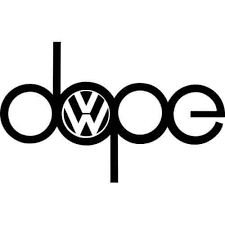 Dope Vw Decal Sticker Dope Vw Decal Thriftysigns