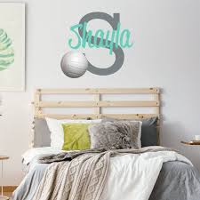 Personalized Name Volleyball Wall Decal Custom Name Etsy