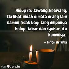 hidup itu sawang sinawang quotes writings by fifitri