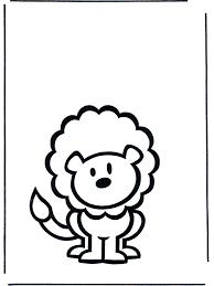 Kinder Leeuw 2 Kleurplaat Dieren