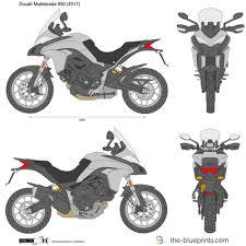 ducati multistrada 950 vector drawing