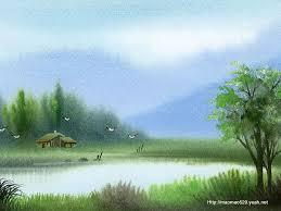 peaceful rural scene landscapes