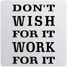 Amazon Com 32 X24 Don T Wish For It Work For It Wall Decal Sticker Art Mural Home Decor Gym Success Goal Drive Exercise Home Kitchen