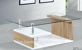 glass top modern wood center table