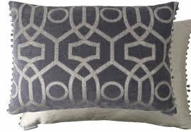 giovanni charcoal beaded luxury cushions